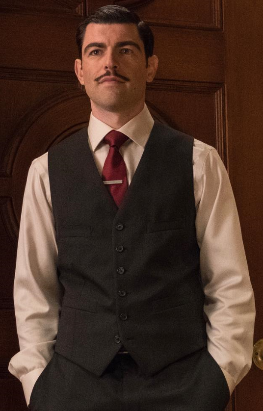 "Actor Max Greenfield as ""Dewey Denouement"" from Netflix's ""A Series of Unfortunate Events"""