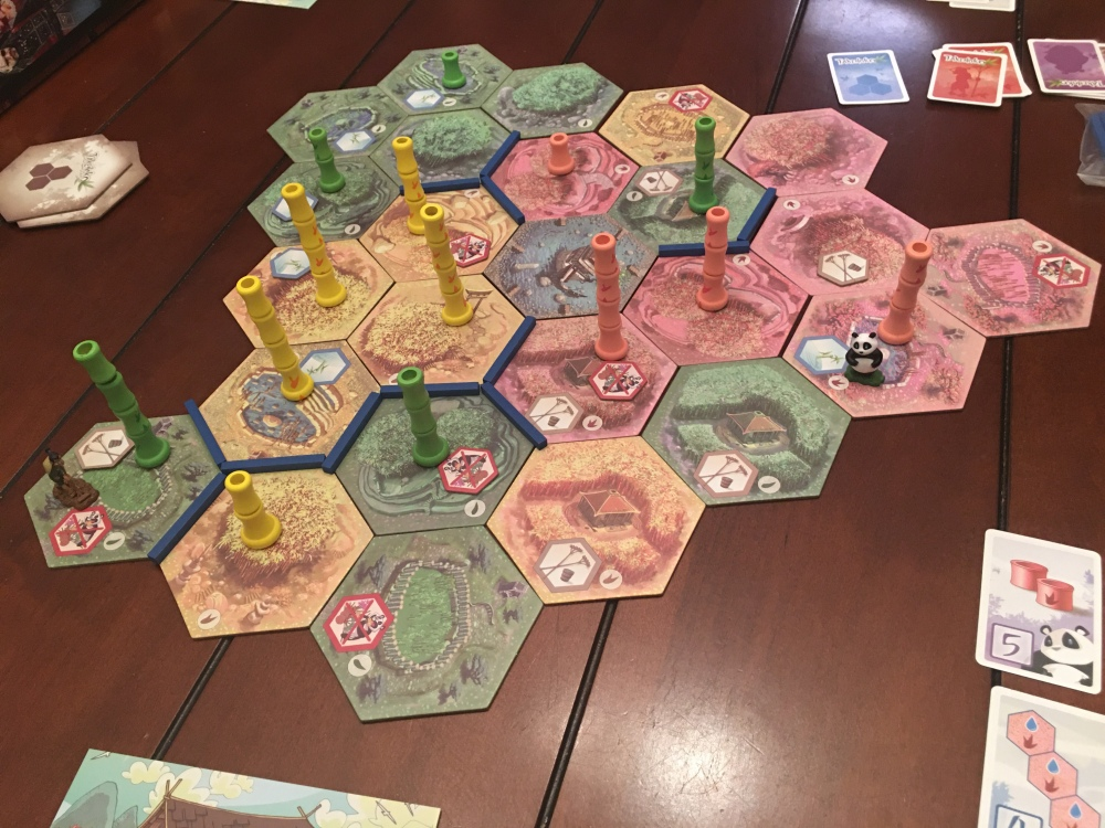 Tiles placed at the end of the game.