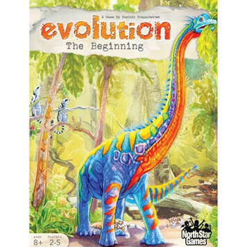 Box cover of Evolution: The Beginning showing a Brontosaurus 🦕
